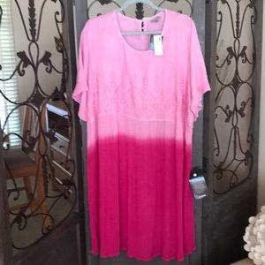 Plus size 22/24 pink ombré dress. Short sleeve